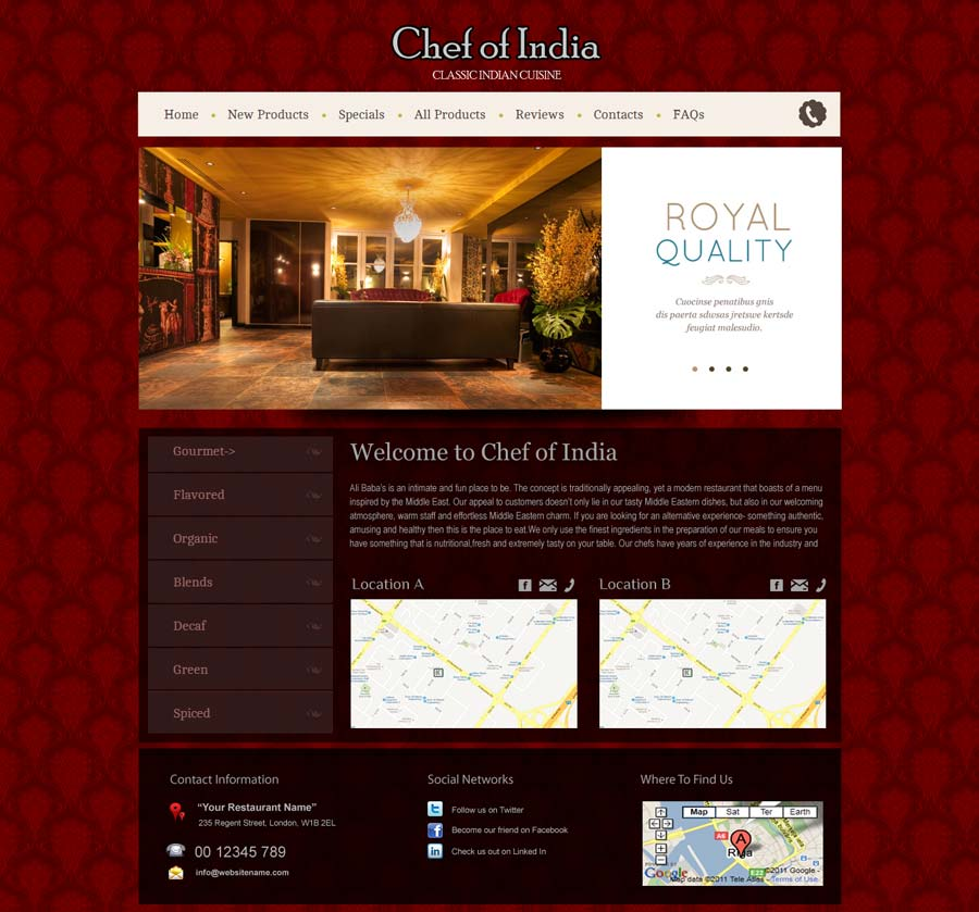 Chef of india, Canada
