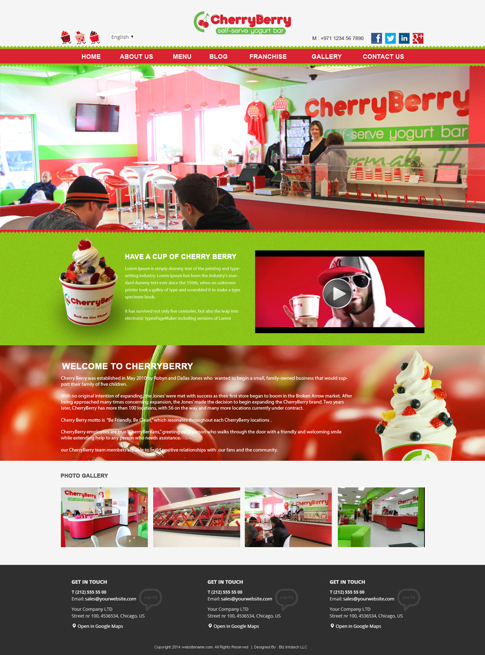 Cherry Berry Layout